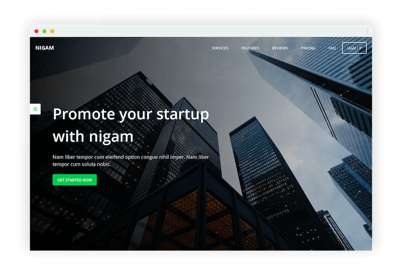 Nigam Bootstrap Business Theme